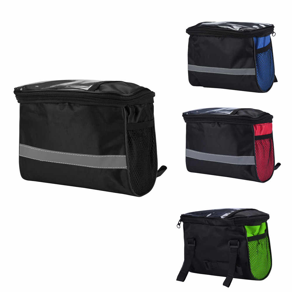 Cycling Bicycle Waterproof Front Frame Pannier Top Tube Cell Mobile Phone Bike Bag Saddle Bag Pack Holder 21.5x13.5x16cm#P4