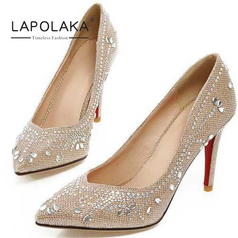 Popular Silver Heels with Rhinestones-Buy Cheap Silver Heels with