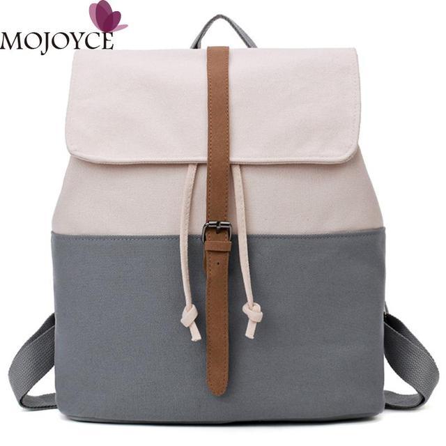 c3454823ddf8 Women Canvas Backpack Flip Leisure School Bags Girls Backpack Travel Bag  Fashion Girls School Bookbag Backbags