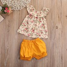 2pcs Floral Tank Top+bow-knot Shorts Set