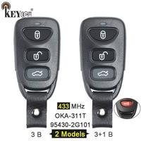 KEYECU 433MHz P/N: 95430-2G101 FCC: OKA-311T Upgraded 3/ 3+1 4 Button Remote Car Key Fob for KIA Optima 2010 2011