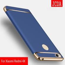 Jcda бренд Высокое качество для Xiaomi Redmi 4×4 Pro 4A 3in1 чехол для телефона Luxury пластик Твердый переплет чехол для телефона противоударный чехол телефона