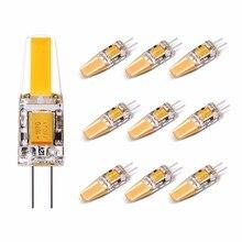 LED G4 Bulb, 2 Watt(Equivalent 25 Watt G4 Halogen lamp), 2700K 210LM Warm White, Bi-pin COB DC 12 Volt Landscape Light, 10X