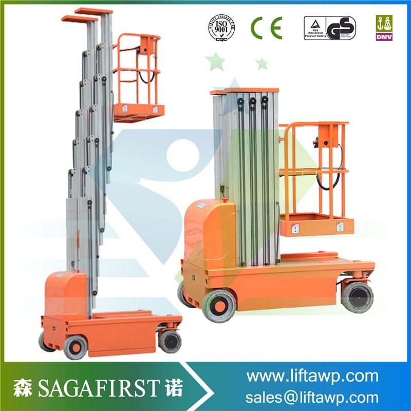 10m Dual Mast Aluminum Alloy Aloft  Platform Man Elevator Factory Promotion