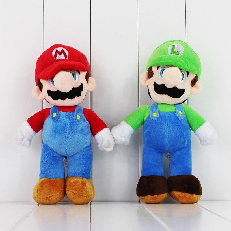 """Size 9"""" /& 11/"""" NEW Super Mario Plush Teddy Wario /& Waluigi Soft Toys Pair"""