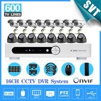 16 канальный Крытый Видео видеонаблюдения Камера комплект 16ch H.264 DVR Регистраторы безопасности Системы Камера комплект sk 214