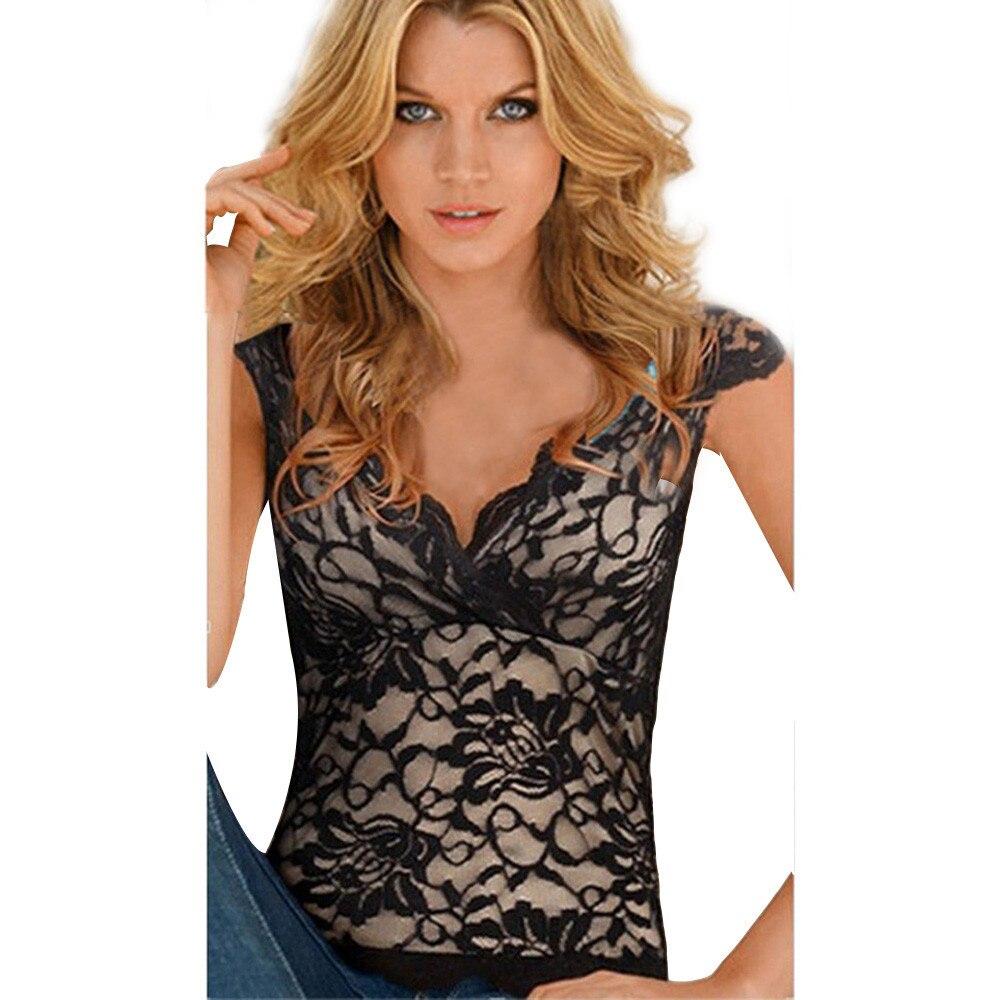 2018 New Fashion Summer Women Blouse Plus Size Lace ...
