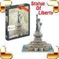 Новый Год Подарок Американский Статуя Свободы 3D Головоломки Статуя головоломки Национальный Символ Здания Бумаги Головоломки Игра DIY Развивающие Игрушки настоящее