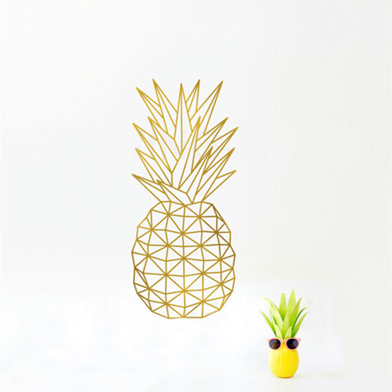 Geometric Pineapple Wall Decal Sticker Home Decor