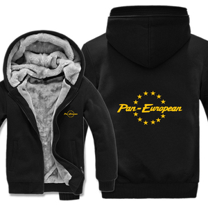 Image 3 - Pan europejskiej bluzy z kapturem męskie zimowy zamek błyskawiczny płaszcz z polaru zagęścić Pan europejski bluza z kapturem ciepła kurtka