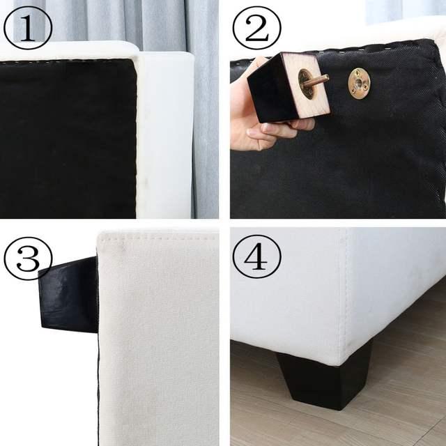 Online Shop Soild Wood Universal Sofa Legs M8 T Nut Plate Install