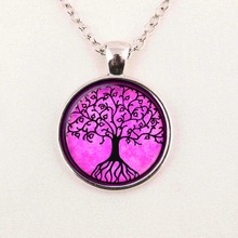Tree of Life pendant necklace European and American popular family tree pendant necklace men and women