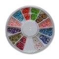 Раскрашенная 3d Цветок Fimo Ногтей Палочки Полимер Nail Art Дизайн Украшения Fimo Цветок Ромашка Милый ломтики Колеса Ногтей DIY Craft