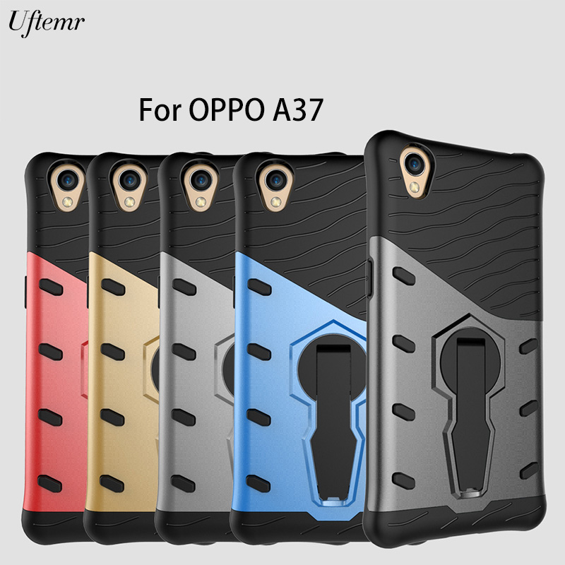 Uftemr Case for OPPO A37 Cover Shockproof Armor Luxury Silicon PC Hard back cover case for OPPO A 37M fundas Coque