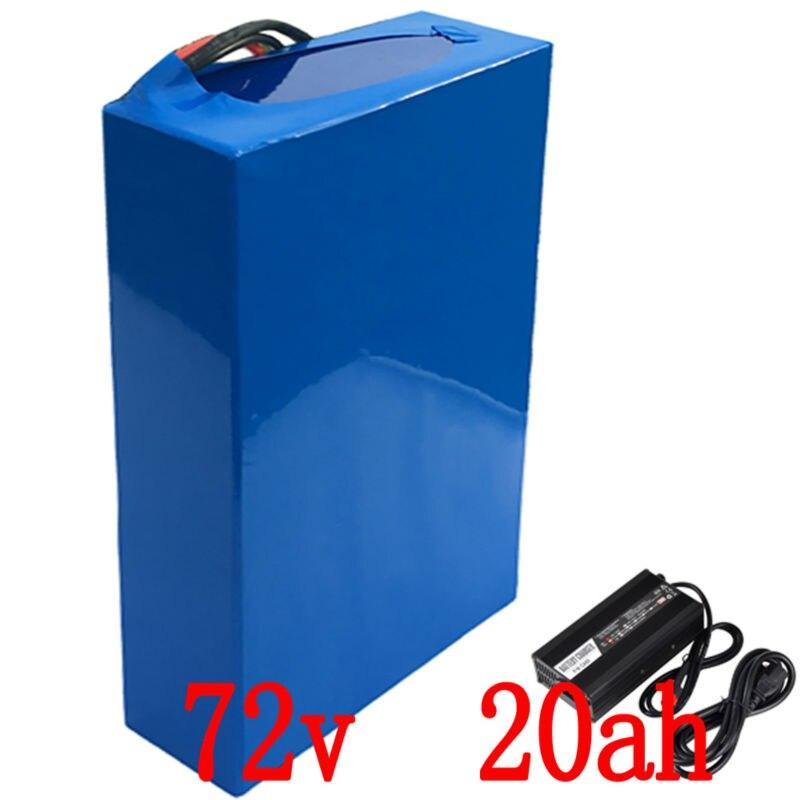72 V 3000 W batterie 72 V 20AH électrique vélo 72 V Scooter batterie 72 V 20AH Au Lithium batterie avec 50A BMS et 84 V chargeur taxes Gratuits
