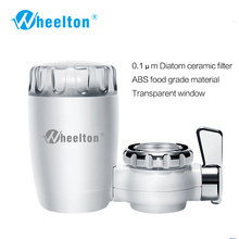 1Pcs Water Filter Faucet 8 Layers Purification Ceramic Activated Carbon Household Kitchen Water Purifier Filter Transparent Lid