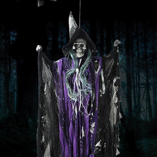 Aliexpress.com : Buy Halloween Prop Hanging Skull Witch