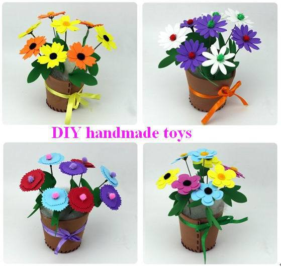 4pcs copil EVA 3D puzzle-uri DIY flori / grădiniță artizanat manual art pentru copii de învățare și jucării educative Transport gratuit