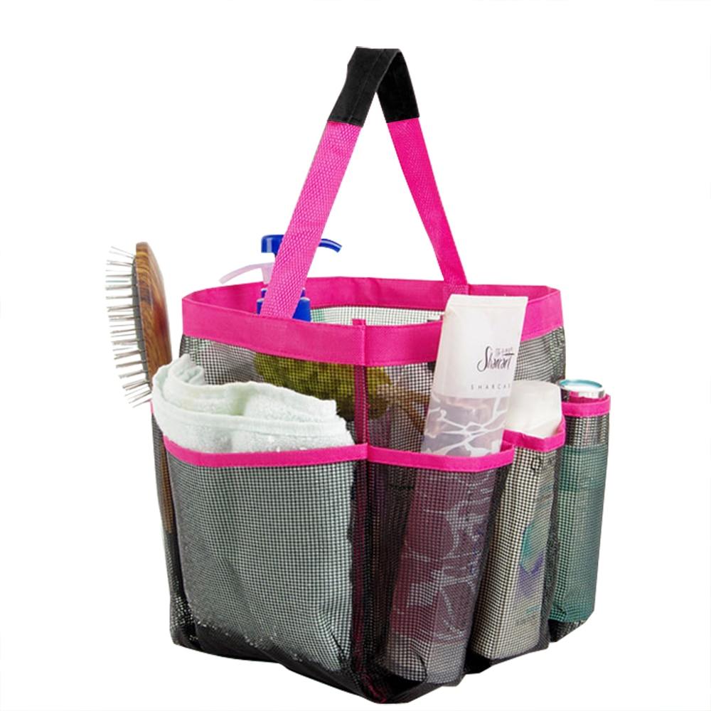 2017 Bathroom Mesh Bag Fabric Quick Dry Shower Tote Storage Bag Bath ...