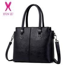 YANXI Fashion Luxury Women Bag Famous Brands PU Leather Tote Designer Handbag High Quality Women Messenger Bags Women's Handbags