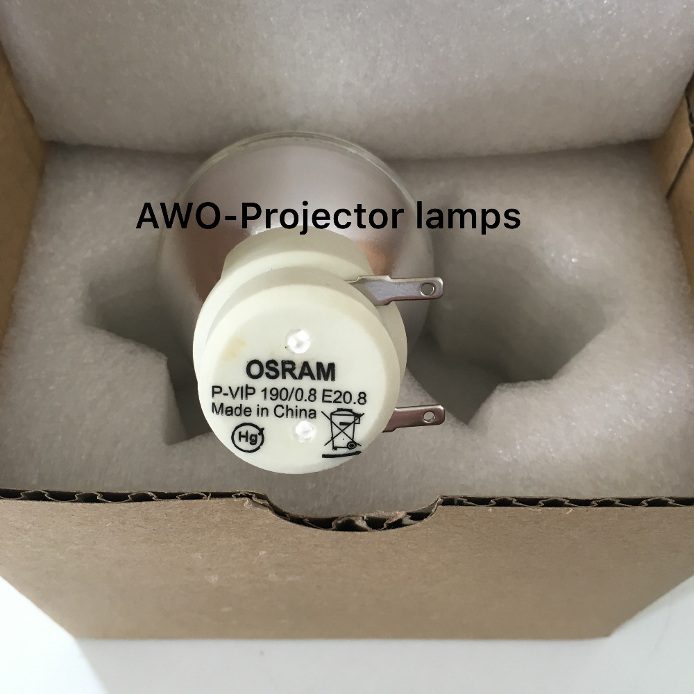 New Bare Bulb Lamp Osram P-VIP 190/0.8 E20.8 For ACER BenQ Optoma  VIEWSONIC Projectors new replacement bare bulb lamp for osram p vip 230 0 8 e20 8 p vip 240 0 8 e20 8 p vip 200 0 8 e20 8 for benq projectors