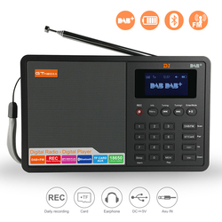 GTMEDIA D1 DAB+ Digital Radio Car DAB Radio Receiver FM Radio Bluetooth Receiver Portable Pocket Stereo Radio Music MP3 Speaker
