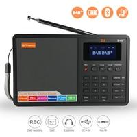 GTMEDIA D1 DAB+ Digital Radio Car DAB Radio Receiver FM Radio Bluetooth Receiver Portable Pocket Stereo Radio Music MP3 Speaker