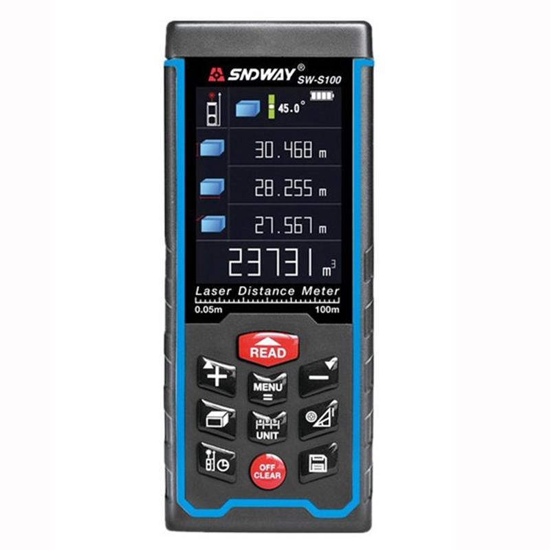 SW-S50 Free Shipping 50M Rechargeable Rangefinder Range Finder Tape Laser Distance Meter