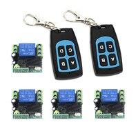 Quad 12 V interruptor de controle remoto, código fixo, jog/inter-lock forma de trabalho, 2 controlador e receptor 4 por conjunto de 4256