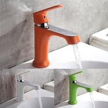 Frap инновационных моды Стиль дома многоцветные Ванны смеситель холодной и горячей водой краны зеленый оранжевый белый для ванной смеситель F1031