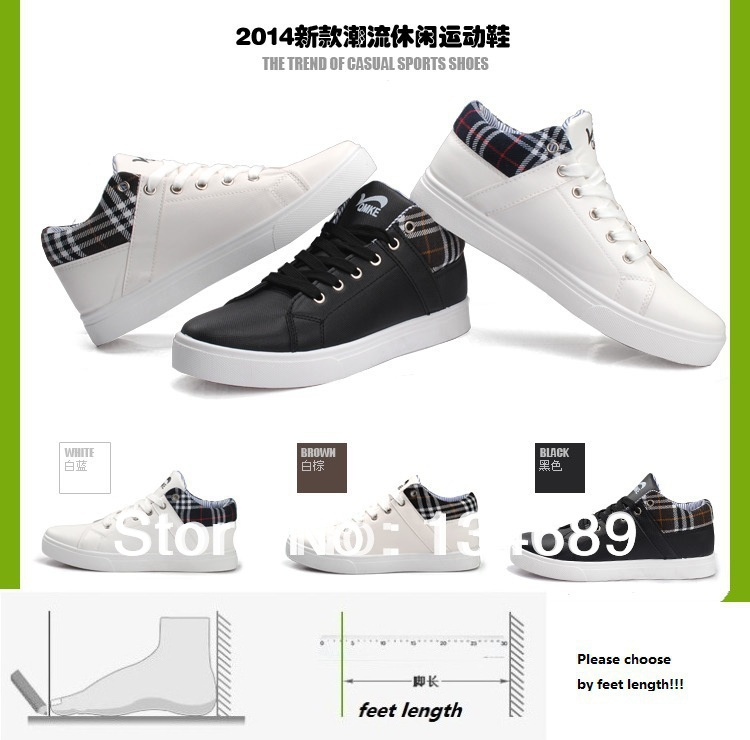 High autumn summer korean style new 2014 mens sneakers fashion shoes men casual shoes sneaker Korean fashion style shoes