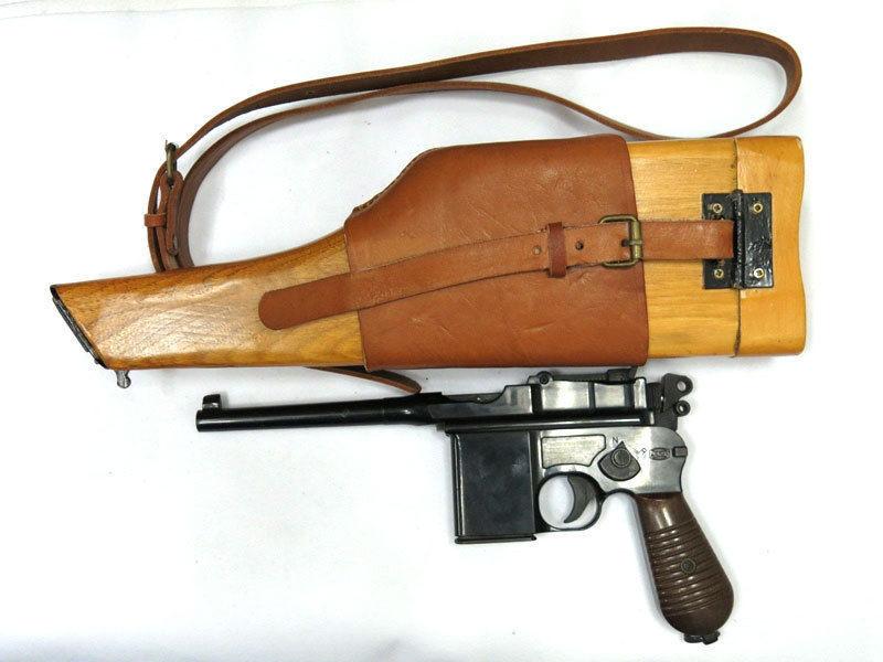 Prix pour Mauser et Mauser C96 Broomhandle Étui En Bois Avec Bandoulière Sling