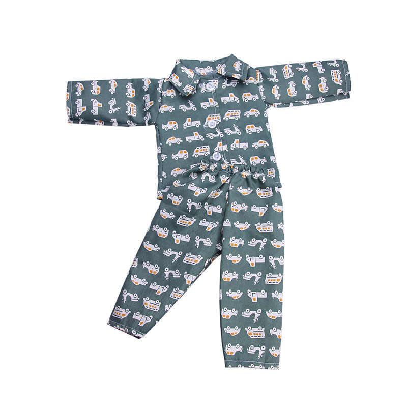 Ropa para muñecas pijamas de 7 colores sólidos para Logan Boy 18 pulgadas muñeca americana y accesorios para muñecas de 43 Cm para la próxima Gerenation