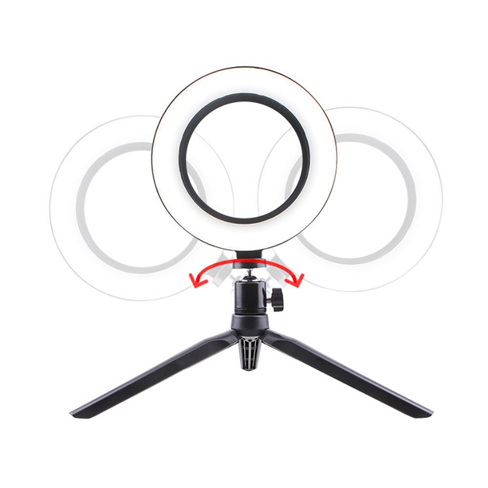 cheapest 3 5inch ouTube LED Desktop Ring Light Mini Dimmable Selfie With Tripod Stand USB Plug For Video Live Photo Photography Studio 30