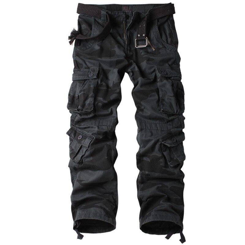 Pantalon Cargo militaire en coton pour hommes, 8 poches pantalon de Combat de travail décontracté homme armée militaire Camo Cargo pantalon grande taille 40 42 44 - 5
