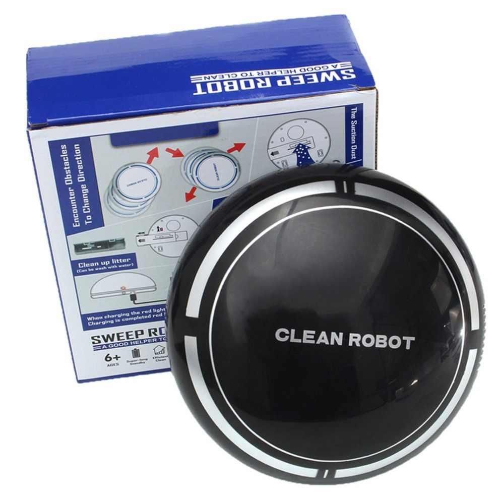 USB Перезаряжаемый умный чистый робот автоматический пылесос для пола низкий уровень шума пылесборник подметальный очиститель