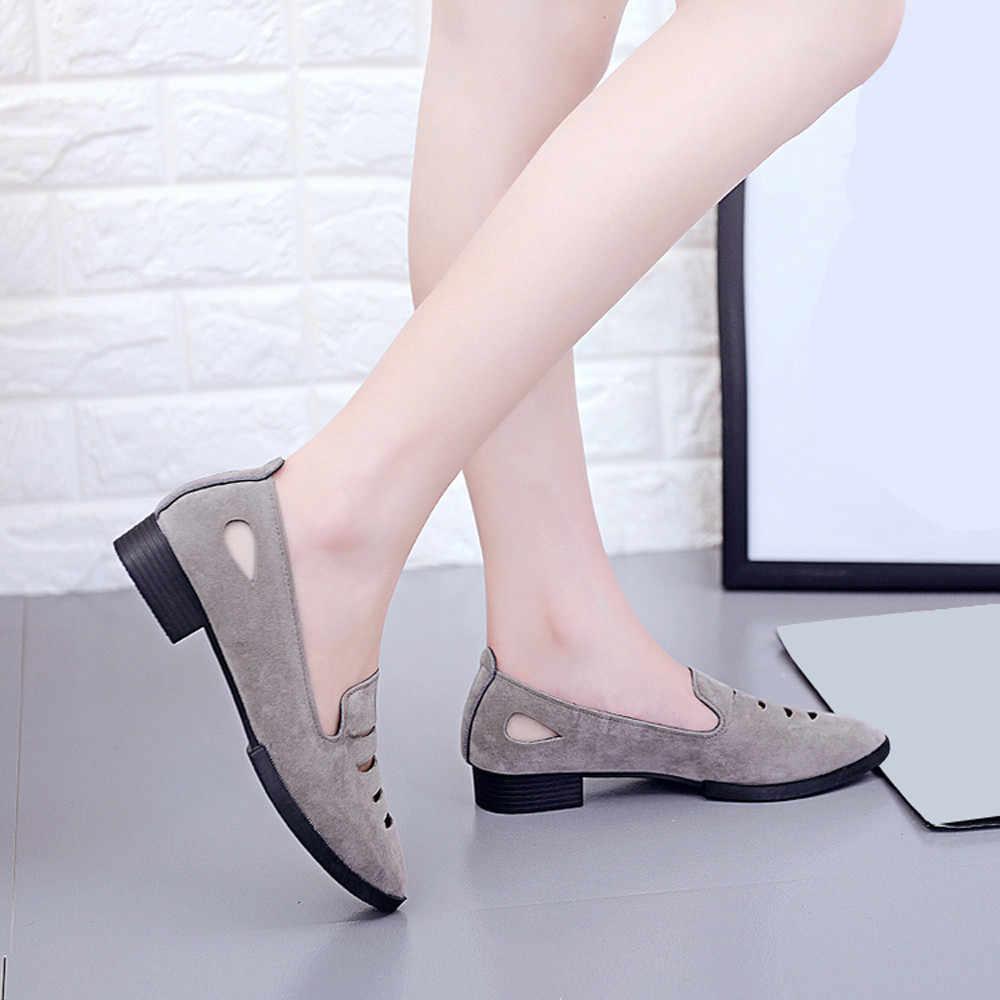 Nieuwe Stijl Mode Vrouwen Platte Hak Schoenen Wees Teen Oxford Schoenen Vrouw PU Vrouwen Hollow Effen Kleur Schoenen