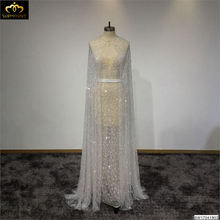Surmount Custom Made Ivory Two-Pieces Sleeveless Long Dress Evening Dress vestidos de noche largos elegantes