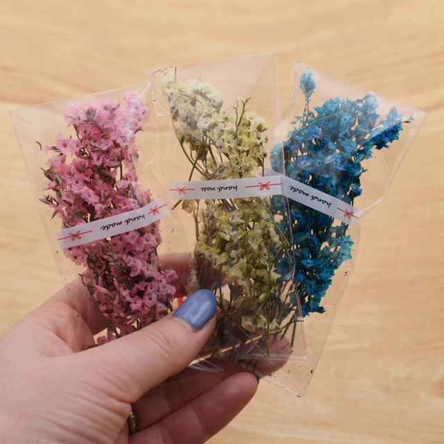 1 bag Natural small crystal flower natural Dried flowers glass globe filler DIY