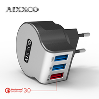 AIXXCO Usb Charger Qualcomm Quick Charge 3 0 Mobile Phone Charger Wall Adapter For Iphone 7