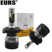 EURS New H4 LED mini Car headlight Bulbs H1 LED H7 H8 H11 Headlamps Kit H15 HB3 9006 V5 Auto 12 24V LED Lamps 72W 9000lm lights