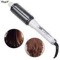 Digital Hair Styler Hot Air Brush Styling Iron Ceramic Anion Hair Curler Comb Hairbrush LCD Curling