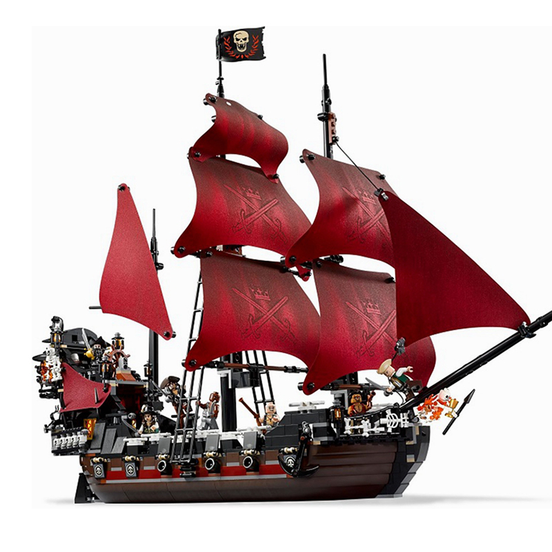 1151Pcs Lepin Queen Anne's Revenge Mini Bricks Set Sale Pirates of the Caribbean Blackbeard Building Blocks Legoed Toys For Kids 2017 new toy 16009 1151pcs pirates of the caribbean queen anne s reveage model building kit blocks brick toys
