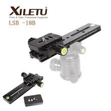 XILETU LSB 18B Verlengd Quick Release Plaat Kit 180mm Nodal Slide Statief Rail Multifunctionele Universele Fotografie Accessoire