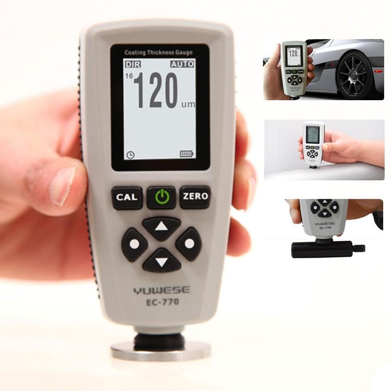 Medidor de Espessura de Revestimento de Pintura Digital de DigitalTester Gama Medidor de 0-1300um (0-51.18mils) F/N Probe Medidor de Carro-detector