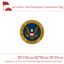 Free shipping 90*150cm 60*90cm Securities And Exchange Commission Flag 3x5ft U.S.A High-quality Banner 30*45cm Car 1PC