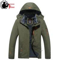 2019 Men Warm Coat Brand Winter Windbreaker Plus Size XXXL 4XL 5XL 6XL Men Hooded Fleece Thermal Anorak Waterproof Jacket Male