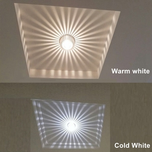 Image 4 - 3W LED Aluminum Ceiling Light Fixture Spot Light Shade Lamp Lighting for ceiling wall corridor luminaire