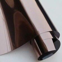 Copper Silver Solar One Way Mirror Window Film Reflective Privacy Brown Glass Sticker Home Office Decorative Films 2/3/4/5/6/7m