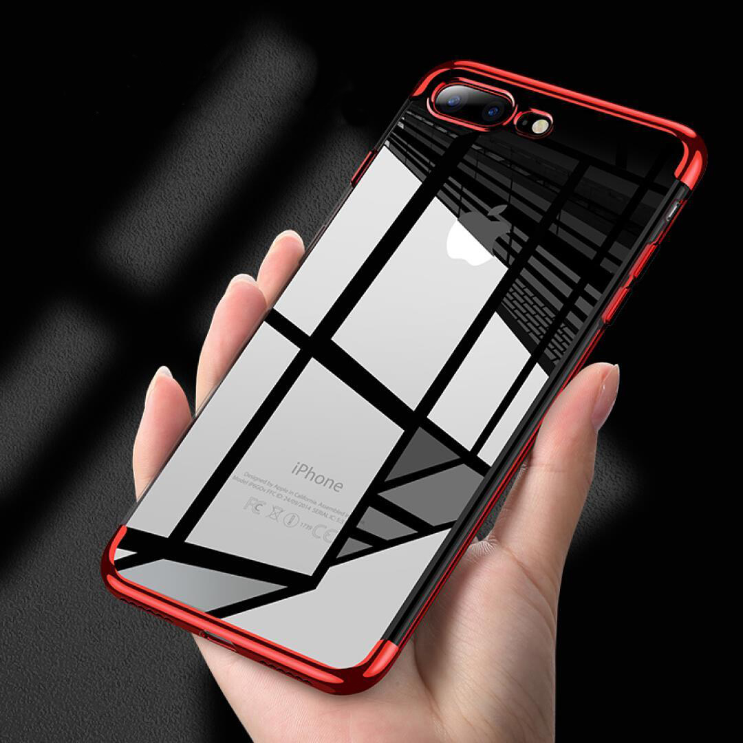 For Iphone 8 Luxury Plating Soft TPU Silicone Cover Phone Iphone 5 5S SE 6 6S 7 9 Plus X Clear 3 In 1 Back Protect Capa